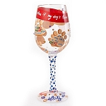 Love My Dog Wine Glass 4054092