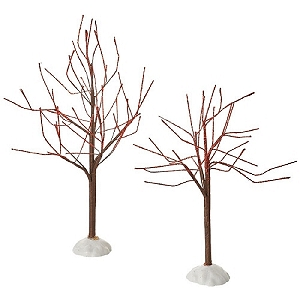 Red Sparkle Trees Set of 2 4054234