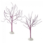 Purple Sparkle Bare Branch Tree Set Of 2 4054269