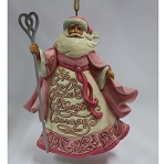Breast Cancer Awareness Pink Santa Ornament 4055057