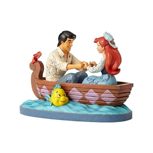 Ariel & Prince Eric Boat Waiting For A Kiss 4055414