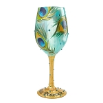 Pretty as a Peacock Wine Glass 4056857