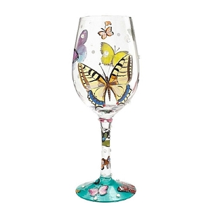 Butterfly Wishes Wine Glass 4056858
