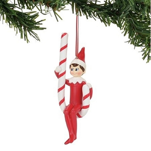Elf On The Shelf Candy Cane Swing Ornament 4056873