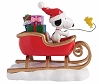 Peanuts Snoopy and Woodstock in Sleigh Christmas Figurine 4057053