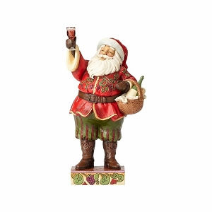 Toasting Traditions Santa with Wine Glass and Basket 4058788