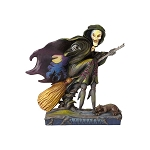 Phantom of Fright Skeleton Witch Riding Broom 4058846