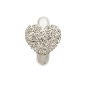 Shiny Love Sterling Silver Charm 41202