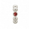 Flashy Dot Garnet Silver 41207-3