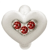 Endless Triple Love Silver Charm Garnet Red 41300-4