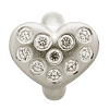 Heart of Love White Sterling Silver Charm 41450-1