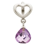 Amethyst Heart Grip Drop 43273-5