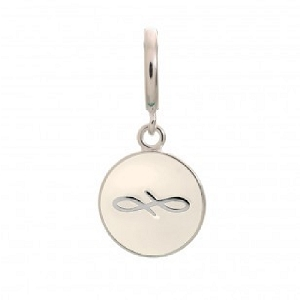 Endless Coin White Sterling Silver Charm 43307-5