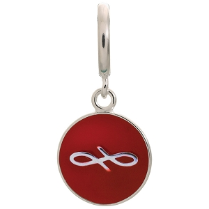 Endless Coin Red Sterling Silver Charm 43307-9