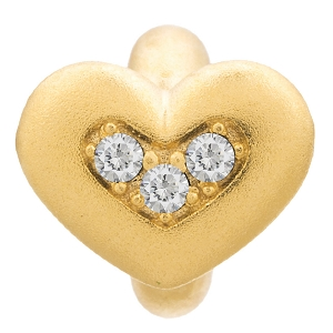 White Triple Love Gold 51305-1