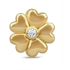 White Heart Flower Gold 51312
