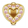 Pink Heart Love Gold 51422