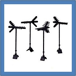 Television Antennas SET of 4 52658