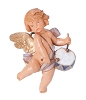 5 Inch Scale Cherub with drum by Fontanini 54055