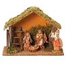 Fontanini 4 Piece Nativity Set With Stable 5 Inch Scale 54223