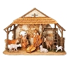 Fontanini 8 Piece Nativity set with stable 5 Inch Scale 54462