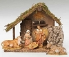 Fontanini 5 Piece Nativity with Stable 54484