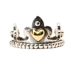 Crown Ring With Gold 57075 6 3/4