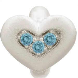 Endless Triple Love Silver Charm Sky Blue 41300-3