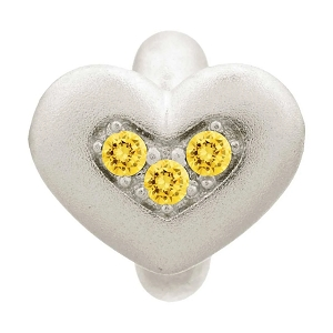 Endless Triple Love Silver Charm Citrine  41300-5