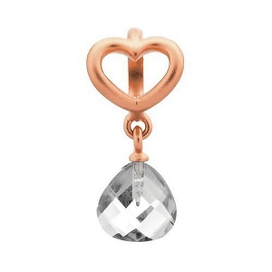 Heart Grip Drop Clear Rose Gold 63302-1