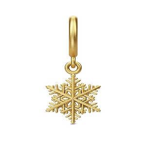 Snowflake Drop Gold Charm 53308