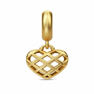 Holiday Heart Drop Gold 53441