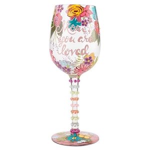 Mom You Are Loved Wine Glass 6001349