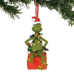 Grinch in Lights Lit Ornament 6000308
