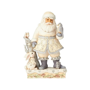 Friends for All Seasons White Woodland Santa 6001407