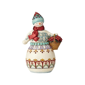 Deliver Cheer Winter Wonderland Snowman with Basket 6001421