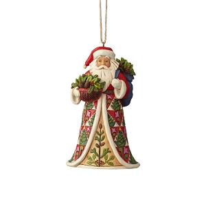 Pinecone Santa Ornament 6001506