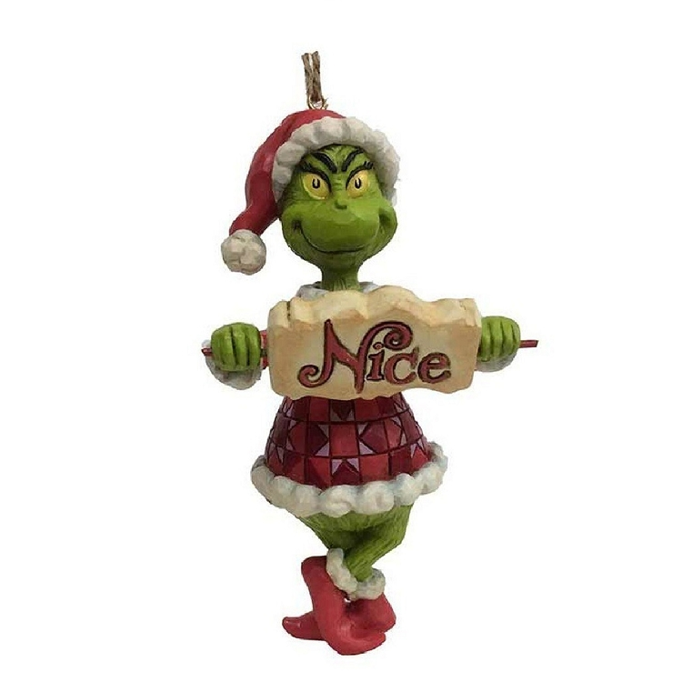 Grinch With Naughty Nice Sign Ornament 6002073