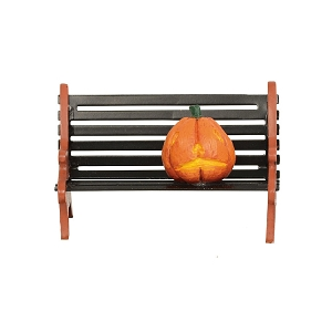 Halloween Haunted Pumpkin Bench 6003226