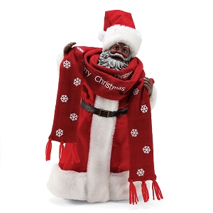 Santas Bundled Up African American 6003863