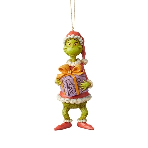 Dr. Seuss Grinch Holding Present Ornament 6004067