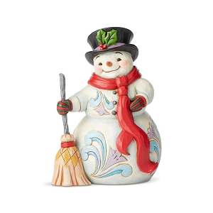 Swept Up In The Season Snowman With Broom and Scarf 6004142