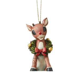 Rudolph With Wreath Ornament 6004151