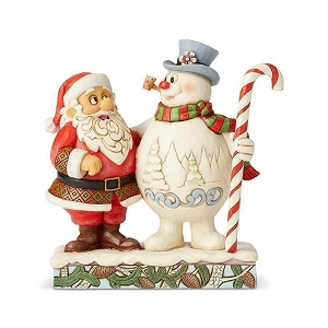 Frosty the Snowman Santa & Frosty with Candy Cane 6004157