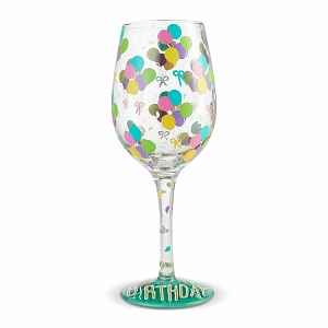 Birthday Balloons Wine Glass  6004357