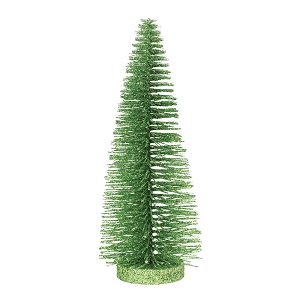Bright Green Glitter Tree 10 inches 6005052