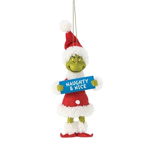 Grinch Naughty & Nice Ornament 6006017