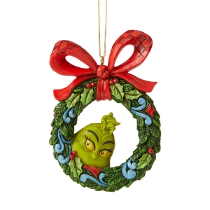 Grinch Peeking Thru Wreath Ornament 6006571