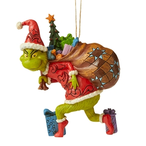 Grinch Tiptoeing Hanging Ornament 6006572
