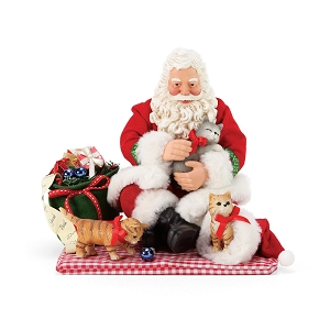 Santa and His Pets Christmas Kitties 6007578